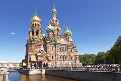 Church of savior on Spilled Blood in St. Petersburg Royalty Free Stock Photos