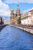 Church of the Savior on Spilled Blood, St Petersburg Russia Stock Image
