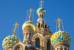 The Church of the Savior on Spilled Blood in St. Petersburg Stock Image