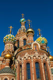 The Church of the Savior on Spilled Blood, St. Petersburg, Russia. Domes of the Church of the Savior on Spilled Blood stock photography