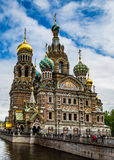 The Church of the Savior on Spilled Blood. In St. Petersburg, Russia just after an early spring thunderstorm had passed through the city Royalty Free Stock Image