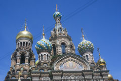 The Church of the Savior on Spilled Blood in St. Petersburg, Russia. SAINT-PETERSBURG, RUSSIA - JUNE 10, 2015: The Church of the Savior on Spilled Blood in St Royalty Free Stock Photos
