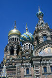 The Church of the Savior on Spilled Blood in St. Petersburg, Russia. SAINT-PETERSBURG, RUSSIA - JUNE 10, 2015: The Church of the Savior on Spilled Blood in St Royalty Free Stock Photography