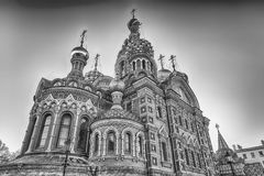 Church of the Savior on Spilled Blood, St. Petersburg, Russia. Scenic view of the Church of the Savior on Spilled Blood, iconic landmark in St. Petersburg Stock Photos