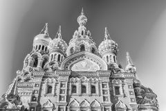 Church of the Savior on Spilled Blood, St. Petersburg, Russia. Scenic view of the Church of the Savior on Spilled Blood, iconic landmark in St. Petersburg Royalty Free Stock Photography