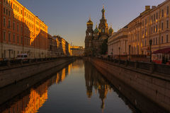 Church of the Savior on Spilled Blood, St. Petersburg, Russia. Summer evening in St. Petersburg Royalty Free Stock Photography