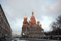 The Church of the Savior on Spilled Blood in  St. Petersburg, Russia. Stock Images