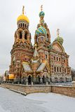 Church of the Savior on Spilled Blood in St. Petersburg in the w Royalty Free Stock Images