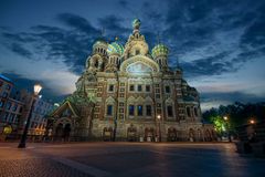 The Church of the Savior on Spilled Blood in St. Petersburg. During the White Nights, Russia Royalty Free Stock Images