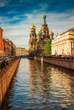 Church of the Savior on Spilled Blood at sunset in St. Petersbur Royalty Free Stock Photo