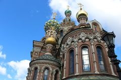 Church of the Savior on Spilled Blood. Wonderful church of the Savior on Spilled Blood Royalty Free Stock Photography
