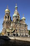 Church of the savior on the spilt blood Stock Photography