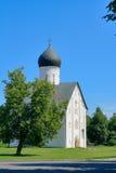 Church Savior of transfiguration. In Iljine street  in Novgorod. XIV c Stock Image