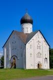 Church Savior of transfiguration. In Iljine street  in Novgorod. XIV c Stock Photos