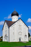 Church Savior of transfiguration. In Iljine street  in Novgorod. XIV c Stock Images