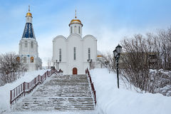 Church of the Savior on the waters. Murmansk, Russia. Church of the Savior on the waters (Church of Our Saviour the Image Royalty Free Stock Photo