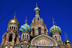 Church of the saviour on blood. In Saint-Petersburg Stock Image