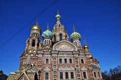 Church of the saviour on blood. In Saint-Petersburg Royalty Free Stock Photo