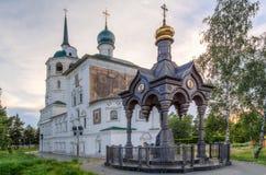 Church of the Saviour in Irkuts, Russia. Historical Church of the Saviour in Irkuts, Siberia, Russia Stock Photo