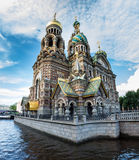 Church of the Saviour on Spilled Blood , Griboedova Canal, Saint Royalty Free Stock Image