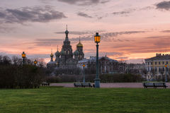 Church of the saviour on spilled blood II Royalty Free Stock Photo