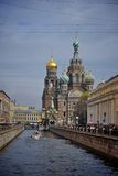 Church of the saviour and the spilled blood Stock Photo
