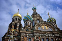 Church of the saviour and the spilled blood Royalty Free Stock Image