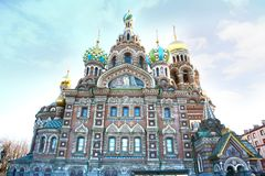 Church of the Saviour on the Spilled Blood in St Petersburg, Russia Royalty Free Stock Photo