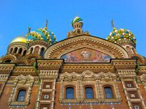 Church of the Saviour on Spilled Blood, St. Petersburg, Russia stock images