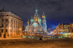 Church of the Saviour on Spilled Blood in St. Petersburg in wint Royalty Free Stock Photos