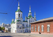 Church of the Saviour in Tyumen, Russia. Church of the Saviour in Tyumen at summer day, Siberia, Russia royalty free stock photos