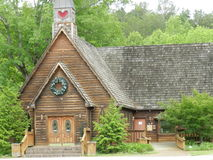 Church. Saw this adorable church while vacationing near townsend tennessee Stock Photo