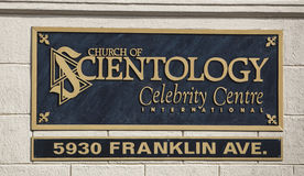 Church of Scientology Celebrity Centre Sign Stock Photo