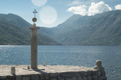 The church in the sea. Perast, Bay of Kotor, Montenegro Royalty Free Stock Image