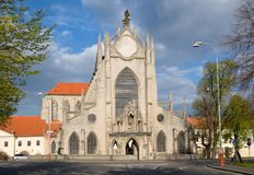 Church in the Sedlec near  Kutna Hora, Czech republic. Gotic church of the Assumption of the Virgin Mary in the Sedlec near Kutna Hora, Central Bohemia, Czech Royalty Free Stock Photos