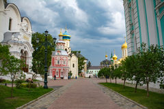 Church in Sergiev Posad. Orthodox Church in Sergiev Posad, Russian Federation Royalty Free Stock Photos