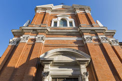 The Church of Servants in Rimini, Italy. The Church of Servants also known as the Church of St. Mary in Court is a Baroque style Roman Catholic church in Rimini Royalty Free Stock Image