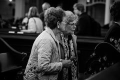 Church service held in the cathedral St. Michael Church Stock Images