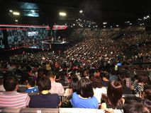 Church services. City Harvest Church in Singapore royalty free stock photo