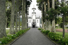 Church of Sete Cidades, Sao Miguel, Portugal Stock Photography