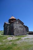 Church of Sevanavank monsatery, on a peninsula in Sevan lake Royalty Free Stock Photo