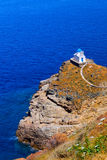 The Church of the Seven Martyrs on Sifnos island stock photos