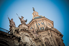 Church in Sevilla. Andalusia, Spain - Saints monuments Royalty Free Stock Photo