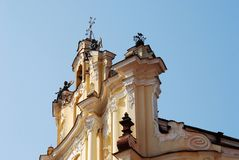 The church is shined by the first beams of the summer sun Royalty Free Stock Photography