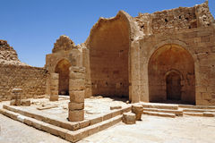 The church of Shivta. The church of the Byzantian city of Shivta in the Negev Desert, Israel Stock Photo