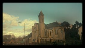Church. Shot taken while driving in the car Stock Photography