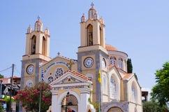Church in Siana village, Rhodes, Greece Stock Photo