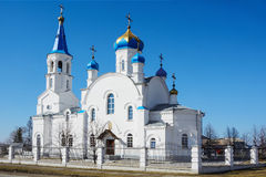 The Church in the Siberian village Stock Image