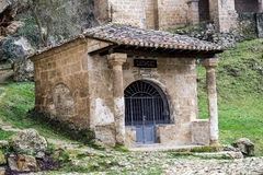 Church at the side of the road, Tobera, Burgos Stock Images