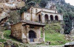 Church at the side of the road, Tobera, Burgos Royalty Free Stock Photo
